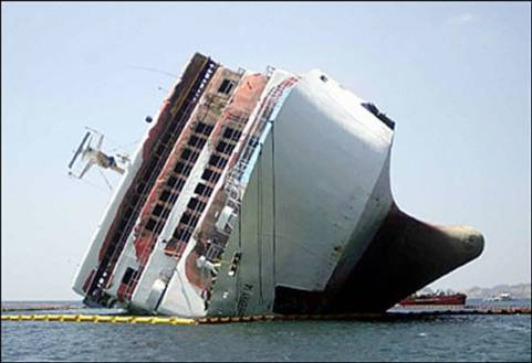 how did the boat fall over - cruise ship accident