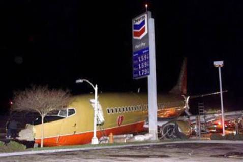 plane crash passenger jet crashes into gas station