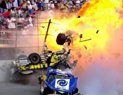 geoffrey Bodine at Daytona racing crash