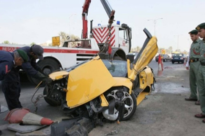 Lamborghini Murcielago Roadster accident totalled