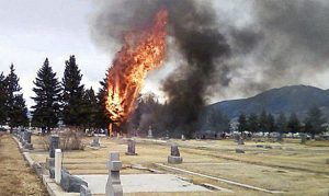 Plane crash into cemetary